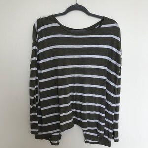 LOFT long sleeve open back shirt